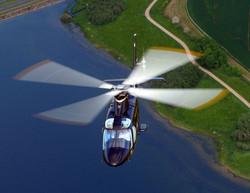 Agusta 109 in-flight