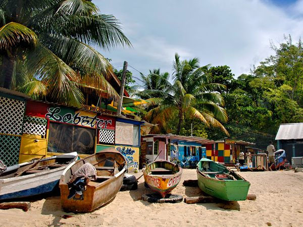 Jamaica beach shack lobster, FDM Academy Fascial Distortion Model manual therapy training on CME cruise