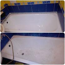 фотография реставрированной ванны до и после