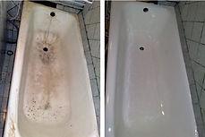 фотогафии реставрироанной ванны до и после