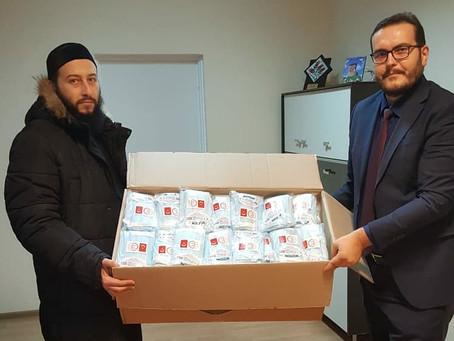 Медицинские маски для прихожан Минской мечети