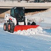 S630 Skid-Steer Loader with Snow Blade.j