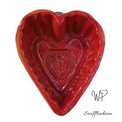 Moule coeur moyen N°3 rouge.