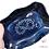 Thumbnail: Ravier ondulé bleu marine décor brezel.