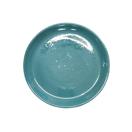 Assiette Soucoupe bleu ciel