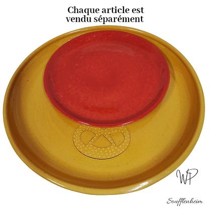 Assiette Soucoupe rouge