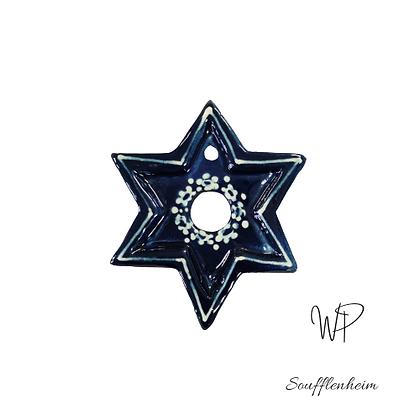 Étoile bleu marine et crème.