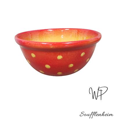 Saladier Rouge Tomate à Pois Crème