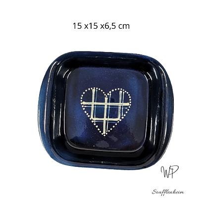 "Gratin carré petit modèle "" Bleu marine""."
