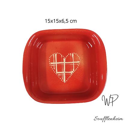 """Gratin carré petit modèle """" Rouge""""."""