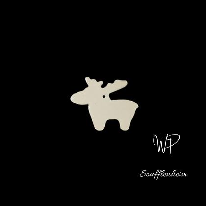 Mini renne blanc.