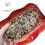 Thumbnail: Ravier ondulé rouge décor dentelle.