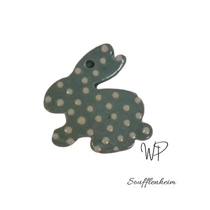 Mini silhouette lapin bleu ciel.