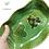 Thumbnail: Ravier ondulé vert décor coeur.