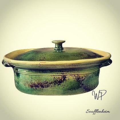 Terrine ovale 7 litres (8/10 pers. ) vert.
