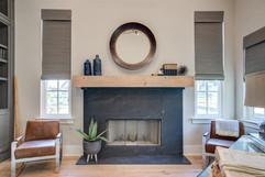 2020 Parade Office Fireplace