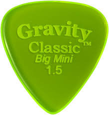 "Gravity Classic Pick: POLISHED ""Big Mini""-1.5mm-Fluorescent Green"