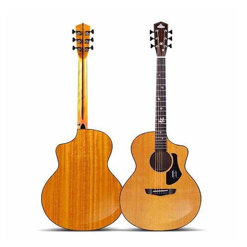 Travel Guitar Wooden  Folk Guitar Performance Acoustic