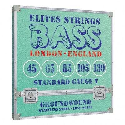 Elites Groundwound Series: Standard Gauge 4 String Set (45-130)