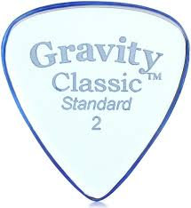 "Gravity Classic Pick: UNPOLISHED ""Big Mini""- 2mm-Blue"
