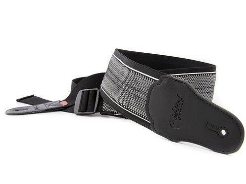 "Righton Bassman ""Elastic Spring"" Guitar Strap - Black"