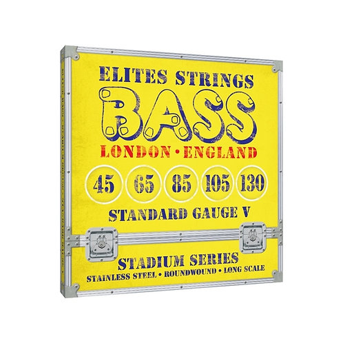 Elites Stadium Series: Standard Gauge 5 String Set (45-130)