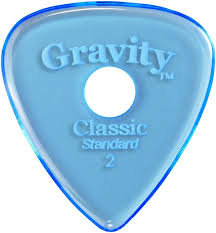 "Hole Gravity Classic Pick: POLISHED ""Standard""- 2mm-Blue"