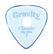 "Hole Gravity Classic Pick: UNPOLISHED ""Big Mini""- 2mm-Blue"