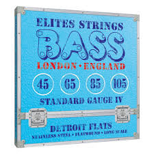 Elites Detroit Flats Series: Standard Gauge 4 String Set (45-105)