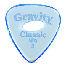 "Elipse Gravity Classic Pick: UNPOLISHED ""Mini""- 2mm-Blue"