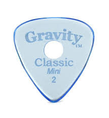 "Hole Gravity Classic Pick: UNPOLISHED ""Mini""- 2mm-Blue"