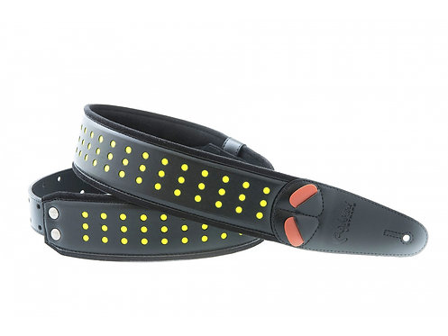 "Righton Mojo ""Holes"" Guitar Strap - Neon Yellow"