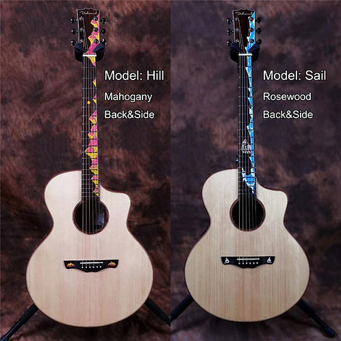 Tikis Handcrafted Acoustic Electric Guitar