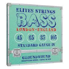 Elites Groundwound Series: Standard Gauge 4 String Set (45-105)