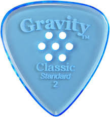 "Multigrip Gravity Classic Pick: UNPOLISHED ""Standard""- 2mm-Blue"