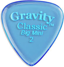 "Gravity Classic Pick: POLISHED ""Big Mini""- 2mm-Blue"