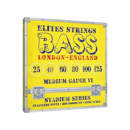 Elites Stadium Series: Medium Gauge 6 String Set (25-125)