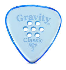 "Multigrip Gravity Classic Pick: POLISHED ""Mini""- 2mm-Blue"