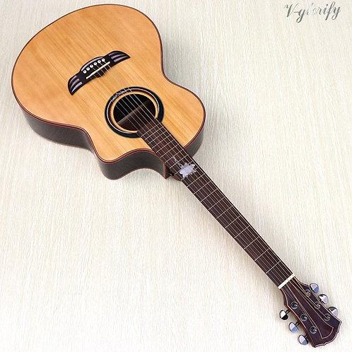 6 String Folk Guitar Rosewood Back and Side Guitarra