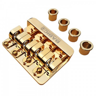Babicz FCH (Through Body) Bass Guitar Bridge 4 String - Gold