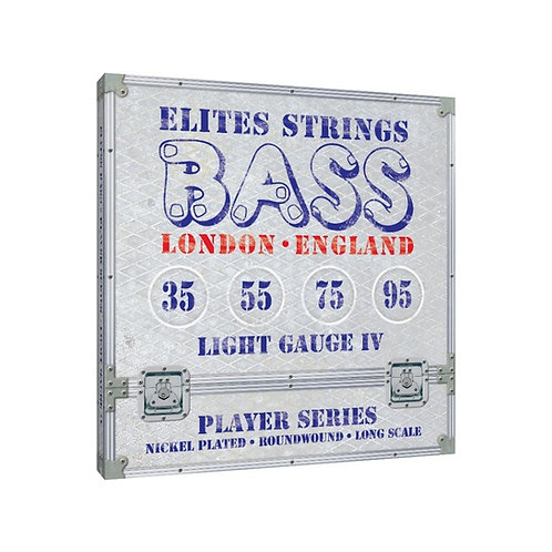 Elites Player Series:  Light Gauge 4 String Set (35-95)