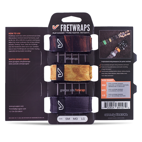 Gruvgear Fretwraps 3 String Muters - Wood