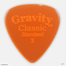 "Gravity Classic Pick: POLISHED ""Standard""- 3mm-Orange"
