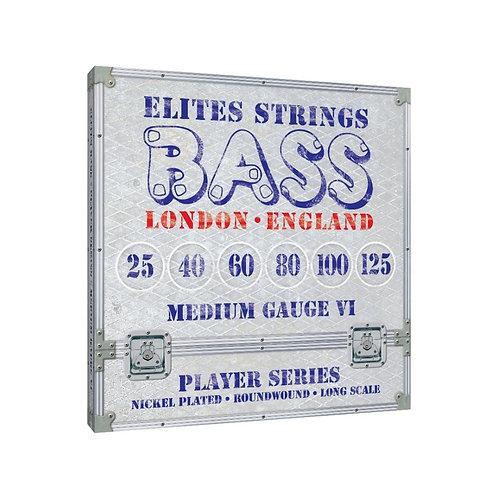 Elites Player Series: Medium Gauge 6 String Set (25-125)