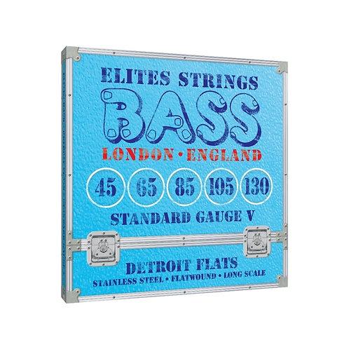 Elites Detroit Flats Series: Standard Gauge 5 String Set (45-130)