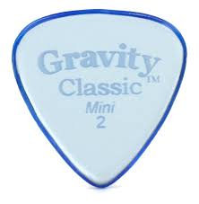 "Gravity Classic Pick: POLISHED ""Mini""- 2mm-Blue"