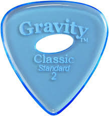 "Elipse Gravity Classic Pick: POLISHED ""Standard""- 2mm-Blue"