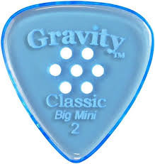 "Multigrip Gravity Classic Pick: POLISHED ""Big Mini""- 2mm-Blue"