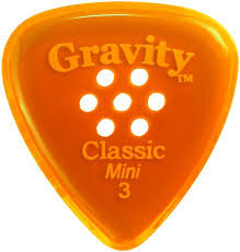 "Multigrip Gravity Classic Pick: UNPOLISHED ""Classic""- 3mm-Orange"
