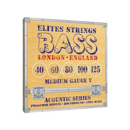 Elites Acoustic Series: Medium Gauge 5 String Set (40-125)
